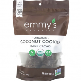 Emmy's Organics Coconut Cookies Dark Cacao, 170g