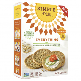 Simple Mills Everything Sprouted Seed Crackers, 120g
