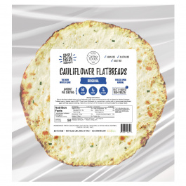 "Cali'flour Foods Cauliflower Flatbreads 5"", Pack of 4"