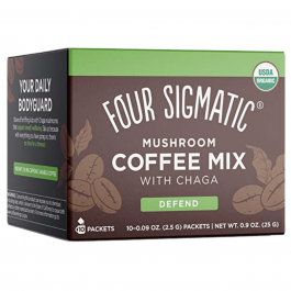 Four Sigmatic Organic Mushroom Coffee Mix with Chaga Defend - 10 Packets