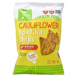 From The Ground Up Cauliflower Tortilla Chips Nacho, 128g