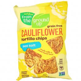 From The Ground Up Cauliflower Tortilla Chips Sea Salt, 128g