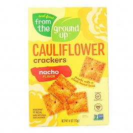 From The Ground UP Nacho Cauliflower Crackers, 113g