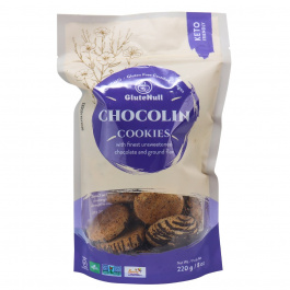 GluteNull Keto Friendly ChocoLin Cookies with Ground Flax, 220g