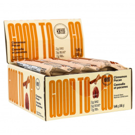 GOOD TO GO Keto Snack Bars Cinnamon Pecan, 9 Bar Pack
