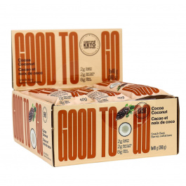 GOOD TO GO Keto Snack Bars Cocoa Coconut, 9 Bar Pack