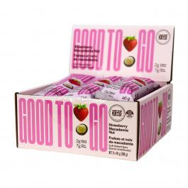 Good To Go Keto Snack Bars Strawberry Macadamia, 9 Bar Pack