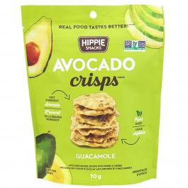 Hippie Snacks Avocado Crisps Guacamole, 70g