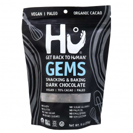 Hu Kitchen Gems, Snacking & Baking Dark Chocolate, 255g