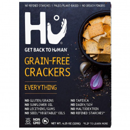 Hu Grain-Free Crackers Everything, 120g