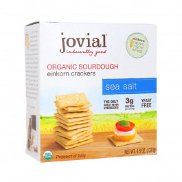 Jovial Organic Sourdough Einkorn Crackers Sea Salt, 128g