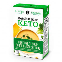 Kettle & Fire Broccoli Cheddar Keto Soup with Chicken Bone Broth, 479g