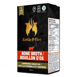 Kettle & Fire Beef Bone Broth Lemongrass Ginger Pho, 480ml