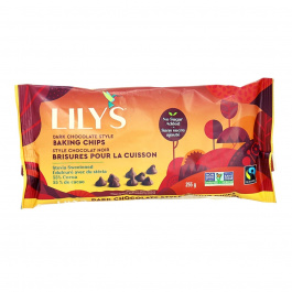 Lily's Sweets Stevia Sweetened Baking Chips Dark Chocolate, 255g