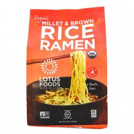 Lotus Foods Organic Millet and Brown Rice Ramen Noodles, 283g
