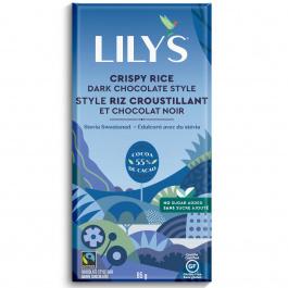 Lily's Stevia Sweetened Dark Chocolate Bar Crispy Rice, 85g