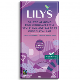 Lily's Stevia Sweetened 40% Salted Almond & Milk Chocolate, 85g