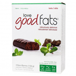 Love Good Fats Keto Bars Mint Chocolate Chip, 4 Pack