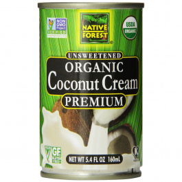 Native Forest Organic Unsweetened Coconut Cream, 160ml