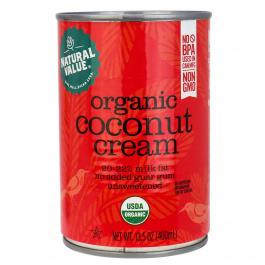 Natural Value Organic Coconut Cream, No Guar Gum, 400ml