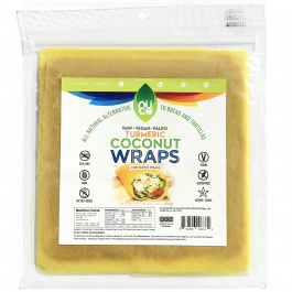 Nuco Turmeric Coconut Paleo Wraps, Pack of 5