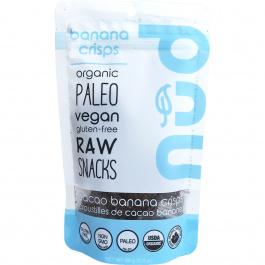 Nud Cacao Organic Banana Crisps, 66g