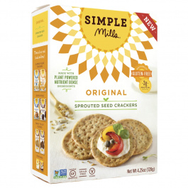 Simple Mills Original Sprouted Seed Crackers, 120g