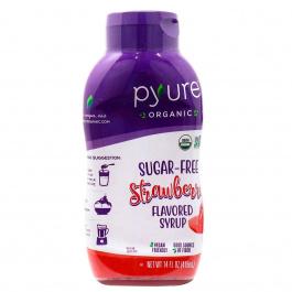 Pyure Organic Sugar-Free Keto Strawberry Flavoured Syrup, 415ml