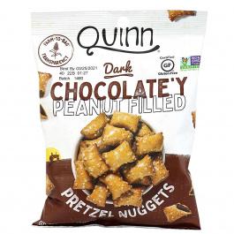 Quinn Dark Chocolate'y Peanut Filled Gluten Free Pretzel Nuggets, 184g