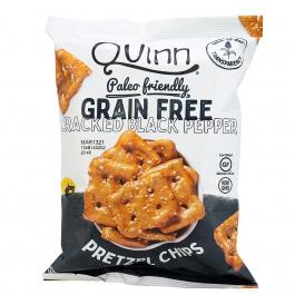 Quinn Grain Free Cracked Pepper Pretzel Chips, 156g