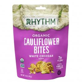 Rhythm Superfoods Organic Cauliflower Bites White Cheddar, 40g