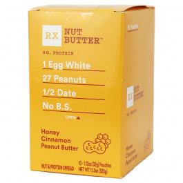 RX Nut Butter Honey Cinnamon Peanut Butter, 10 squeeze packs