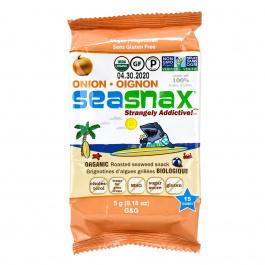 SeaSnax Organic Onion Roasted Seaweed Snack, 5g