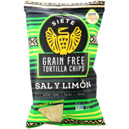 Siete Sal Y Limon Grain Free Tortilla Chips, 113g