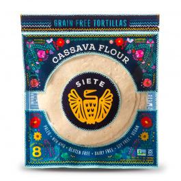 Siete Cassava & Coconut Flour Tortillas 8-Count, 200g