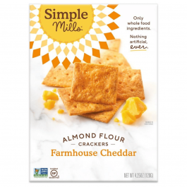 Simple Mills Grain-Free Almond Flour Crackers Farmhouse Cheddar, 120g