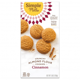 Simple Mills Grain-Free Crunchy Cookies Cinnamon, 156g