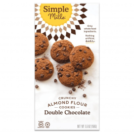 Simple Mills Grain-Free Crunchy Cookies Double Chocolate, 156g