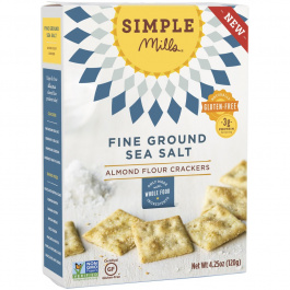 Simple Mills Fine Ground Sea Salt Almond Flour Crackers, 120g