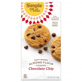 Simple Mills Grain-Free Soft Baked Cookies Chocolate Chip, 176g