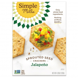 Simple Mills Grain-Free Sprouted Seed Crackers Jalapeño, 120g