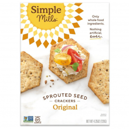 Simple Mills Grain-Free Sprouted Seed Crackers Original, 120g