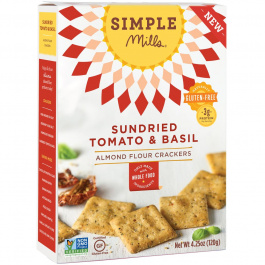 Simple Mills Sundried Tomato & Basil Almond Flour Crackers, 120g