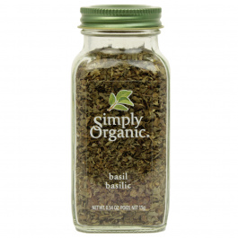 Simply Organic Basil Leaf Sweet Cut & Sifted, 15g