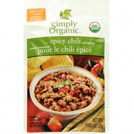 Simply Organic Spicy Chili Seasoning Mix, 28g