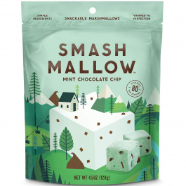 SmashMallow Mint Chocolate Chip Snackable Marshmallows, 128g