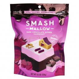 SmashMallow Dark Chocolate Dipped Raspberry Marshmallows, 128g (Exp. July 14th 2020)