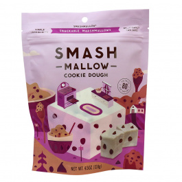 SmashMallow Cookie Dough Snackable Marshmallows, 128g