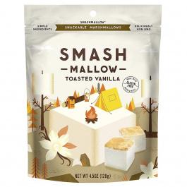 Smashmallow Toasted Vanilla Snackable Marshmallows, 128g