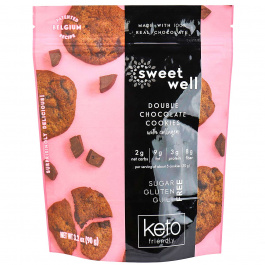 Sweetwell Keto Cookies with Collagen Double Chocolate, 90g